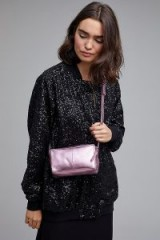 Corder Fleming Leather Crossbody | small pink metallic bags