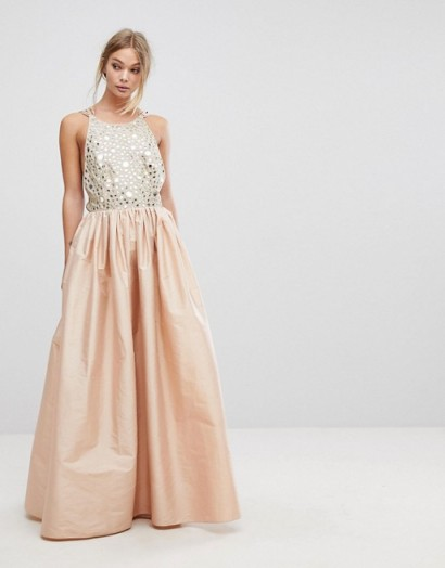 6a97555c4fa French Connection Embellished Maxi Dress ~ long luxe evening dresses ~ pale  pink occasion wear