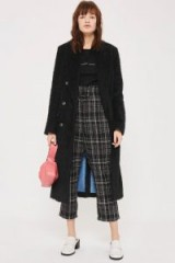 Topshop Frill Paper Bag Checked Trousers / crop leg pants