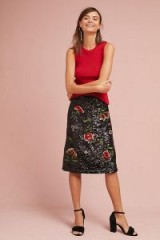 MAEVE Garden Glitz Skirt / floral sequined skirts
