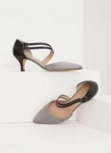 MINT VELVET GEORGIE BLACK KITTEN HEEL / chic shoes