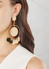 EDDIE BORGO Gold-plated hoop earrings ~ gold plated statement jewellery