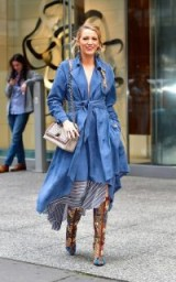 Blake Lively looks boho chic in Gucci