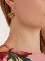 DOLCE & GABBANA Heart-drop earrings ~ designer fashion jewellery ~ beautiful Italian accessories