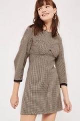 Topshop Heritage Corset Shift Dress / check print dresses