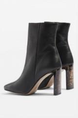 Topshop Hibiscus Ankle Boots – tort/tortoiseshell high heels