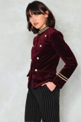 Nasty Gal I Want a Soldier Cord Jacket ~ burgundy military jackets