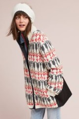 Sleeping On Snow Intarsia Jumper Jacket   knitted patterned jackets