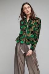 Samsoe Ismaela Velvet Burnout Bomber | luxe green jackets