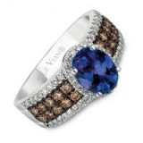 Le Vian 14ct Gold Diamond & Blueberry Tanzanite Ring ~ blue stone rings ~ diamonds ~ bling jewellery