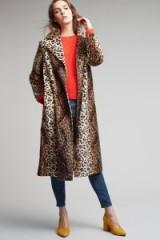 Helene Berman Lila Skinny Leopard Coat | glamorous animal print coats | winter glamour
