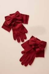 Anthropologie Long Bow-Tied Gloves | cute winter accessories | winter colours