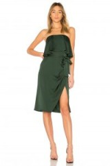 Lovers + Friends VIOLET MIDI | emerald-green strapless party dresses