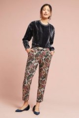 Luelle Metallic Jacquard Slim Trousers