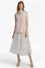 FRENCH CONNECTION LUNA SPARKLE MIDI SKIRT | tulle skirts