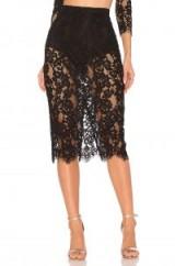 MAJORELLE RENLY SKIRT | sheer black lace pencil skirts