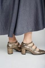 Anthropologie Melrose Metallic Mary Janes ~ shiny Mary Jane shoes