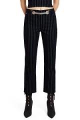 Miaou VELVET FLOCK TOMMY PANT | striped cropped pants | stripe trousers