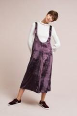 MAEVE Monique Velvet Pinafore Skirt | plum/purple skirts | luxe pinafores