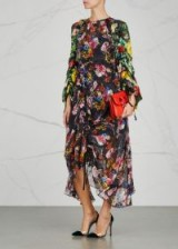 PREEN BY THORNTON BREGAZZI Myra floral-print devoré dress