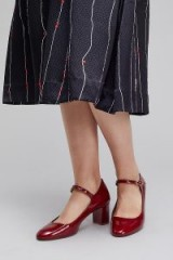New Lovers Patent Leather Pumps ~ red Mary Jane shoes