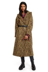 Opening Ceremony LEOPARD PRINTED ROBE | hooded animal print winter coats