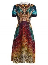 MARY KATRANTZOU Osprey silk crepe de Chine dress ~ beautiful multi prints