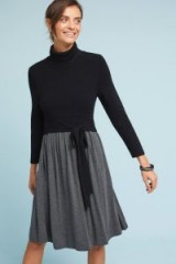 MOTH Palermo Ballet Knit Dress | chic knitted dresses | black and grey