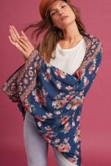 Anthropologie Pattaya Cocoon Kimono | floral kimonos | floaty wide sleeve jackets