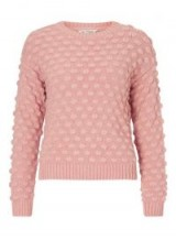 Miss Selfridge Pink Bobble Knitted Jumper