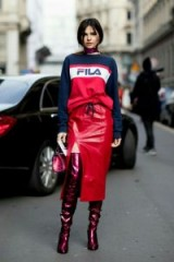 Street style ~ red outfits