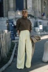 Shades of brown and cream / stylish looks / Paris street style outfits