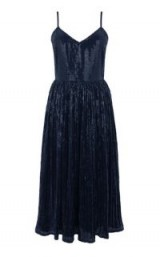 WAREHOUSE PLEATED SEQUIN CAMI DRESS – navy blue party dresses
