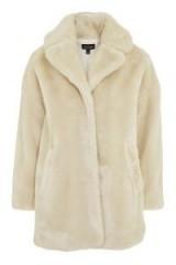 TOPSHOP Polar Bear Faux Fur Coat – cream winter coats