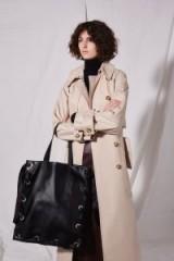 Topshop Premium Leather Ribbon Tote Bag | large black bags