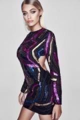 boohoo Premium Poppy Open Back Embellished Mini Dress – glamorous party dresses