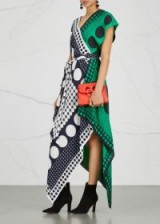 DIANE VON FURSTENBERG Printed handkerchief silk dress – mixed prints