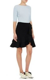 PROENZA SCHOULER Cady Ruffle Skirt | black ruffled skirts