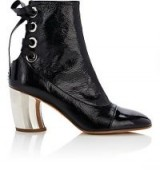 PROENZA SCHOULER Curved-Heel Patent Leather Ankle Boots