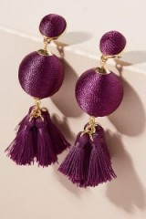 ANTHROPOLOGIE Rani Tassel Earrings / statement jewellery / cocktail & party time