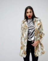 River Island Mixed Faux Fur Coat – winter luxe