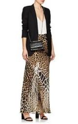SAINT LAURENT Leopard-Print Silk Maxi Skirt | long animal printed skirts