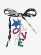 Saint Laurent Silk And Logo Key Ring / designer accessories