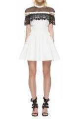 $278.00 SELF PORTRAIT MONOCHROME HUDSON MINI DRESS, #self-portrait dress, #mini dress,
