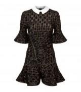 Self-Portrait Sequin Embellished Peplum Dress   luxe fluted hem party dresses   LBD