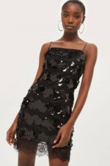 Topshop Sequin Lace Slip Bodycon Dress / luxe cami dresses / party fashion