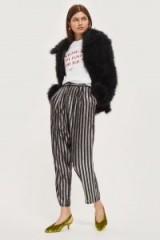Topshop Sequin Stripe Trousers