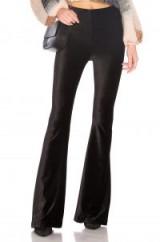 Show Me Your Mumu BAM BAM BELLS PANT   black velvet trousers