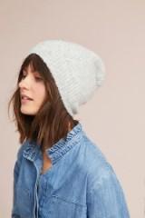 Anthropologie Snowfall Ribbed Beanie | light grey beanies | winter hats