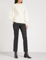 SPORTMAX Meandro mid-rise stretch-cotton trousers